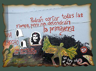 Graffiti en San Carlos de Bariloche