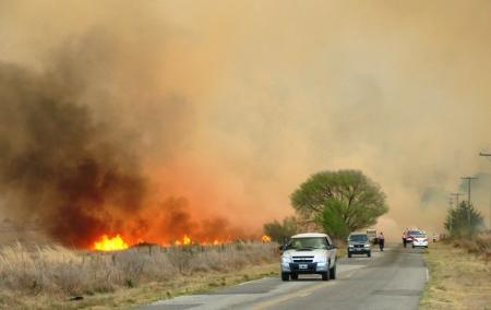 El incendio va rumbo a Cerro Pelado